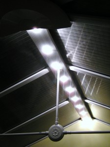 Fitted 20w star light low voltage downlights in a conservatory